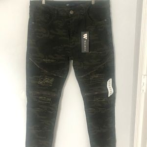 Fitted army pants